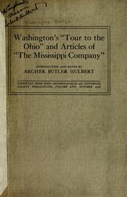 "Cover of: Washington's ""tour to the Ohio"" and articles of ""the Mississippi Company"""