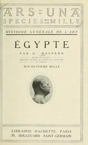 Cover of: Égypte | Gaston Maspero