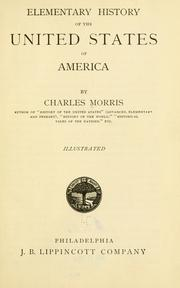 Cover of: Elementary history of the United States of America