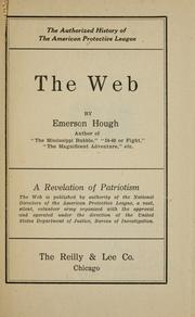 Cover of: The web | Emerson Hough