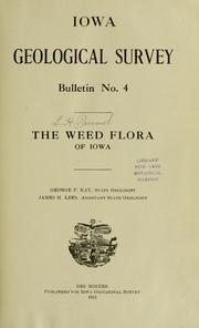 Cover of: The weed flora of Iowa