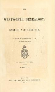 Cover of: Wentworth genealogy | Wentworth, John