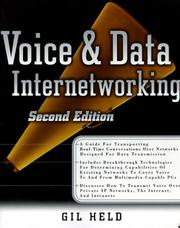 Cover of: Voice and data internetworking
