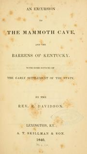 Cover of: An excursion to the Mammoth Cave