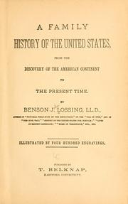 Cover of: A family history of the United States