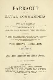 Cover of: Farragut, and our naval commanders