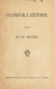 Cover of: Filosofská historie