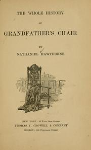Cover of: The whole history of grandfather's chair