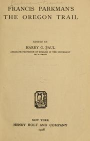 Cover of: Francis Parkman