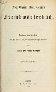 Fremdwörterbuch by Johann Christian August Heyse