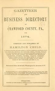 Cover of: Gazetteer and business directory of Crawford County, Pa., for 1874