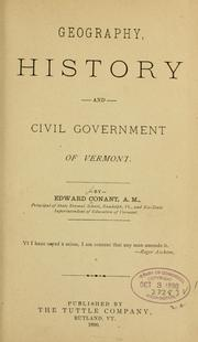 Cover of: Geography, history and civil government of Vermont
