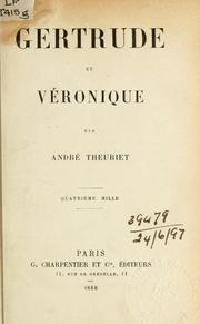 Cover of: Gertrude et Véronique