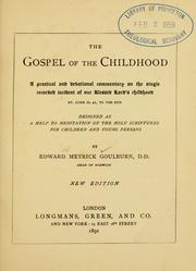 Cover of: The Gospel of the childhood