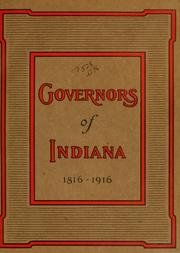 Cover of: Governors of Indiana | Charles Joseph Oval