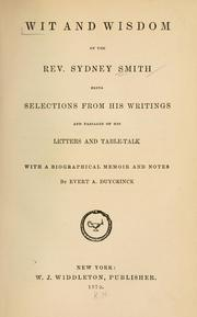 Cover of: Wit and wisdom of the Rev. Sydney Smith