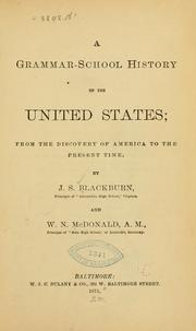 Cover of: grammar-school history of the United States | John S. Blackburn