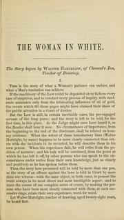 Cover of: The woman in white | Wilkie Collins