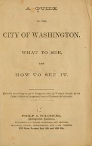 Cover of: A guide to the city of Washington. |