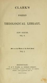 Cover of: words of the Lord Jesus ... tr. from the second rev. and enl. German ed. | R. Stier