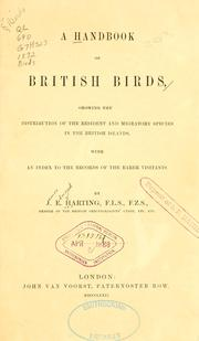 Cover of: handbook of British birds | James Edmund Harting