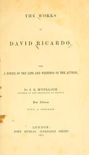 The works of David Ricardo by David Ricardo