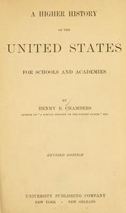 Cover of: A higher history of the United States