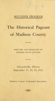 Cover of: The historical pageant of Madison County | Thomas Wood Stevens