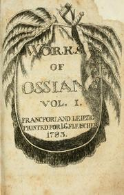 Cover of: Works of Ossian. | James Macpherson