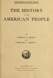 Cover of: history of the American people | Charles Austin Beard