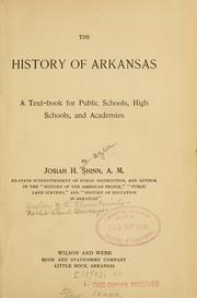Cover of: The history of Arkansas