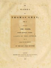 Cover of: The works of Thomas Gray