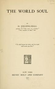 Cover of: The world soul | H. Fielding
