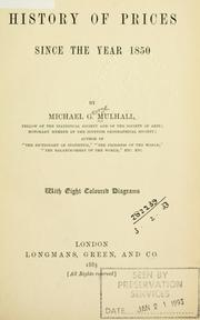 Cover of: History of prices since the year 1850. | Michael George Mulhall