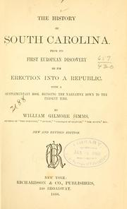 Cover of: history of South Carolina. | William Gilmore Simms
