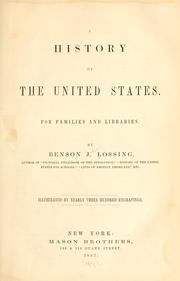 Cover of: A history of the United States