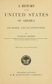 Cover of: A history of the United States of America, its people, and its institutions