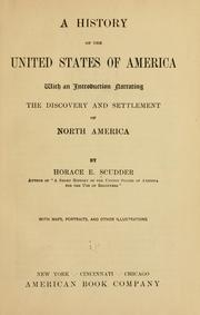 Cover of: A history of the United States of America