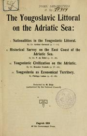 Cover of: The Yougoslavic littoral on the Adriatic Sea | Milan Rojc