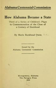 Cover of: How Alabama became a state