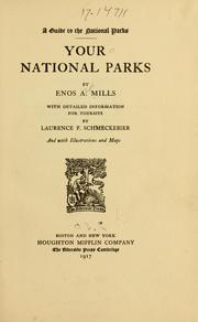 Cover of: Your national parks