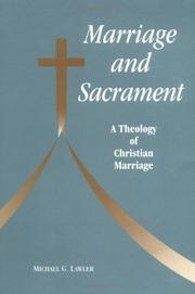 Cover of: Marriage and sacrament