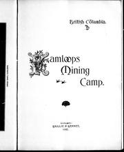 Cover of: Kamloops mining camp |