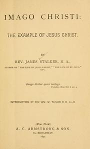 Cover of: Imago Christi: the example of Jesus Christ