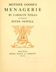 Cover of: Mother Goose's menagerie
