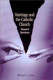 Cover of: Marriage and the Catholic Church