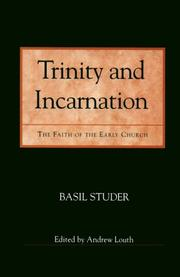 Cover of: Trinity and Incarnation