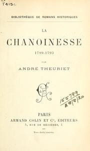Cover of: La chanoinesse