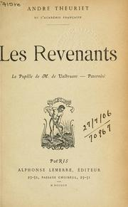 Cover of: Les revenants