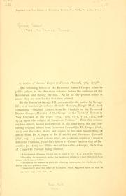 Cover of: Letters to Thomas Pownall